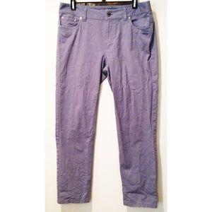 Brooks Brothers Womens Chinos 8 Blue Brooke Fit